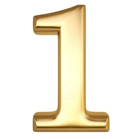nombre d or: nombre de l'or isolé sur blanc