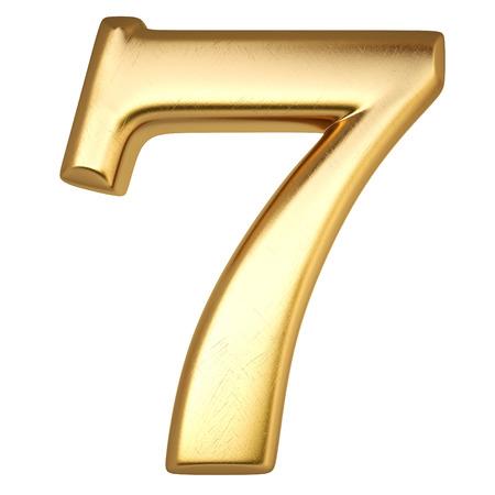 Nombre de l'or isolé sur blanc Banque d'images - 28353677