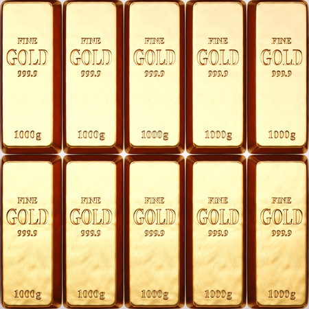 goldbars: rows of gold bars.