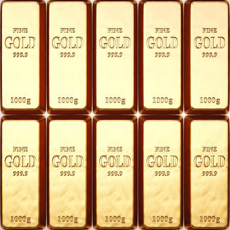 goldbars: rows of gold bars.