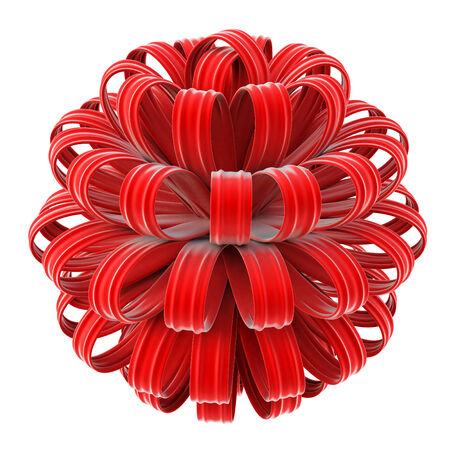 velvet: beautiful red velvet bow. isolated on white