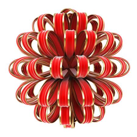 red velvet bow. isolated on white. photo