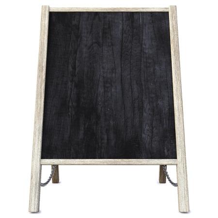 menu board: wooden menu board. isolated on white.