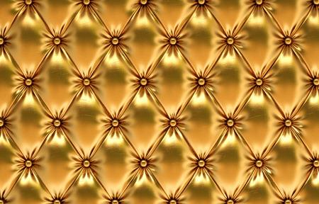 eleganz: luxuriöse goldene Leder