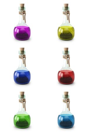 set of potion in the bottle. isolated on white background.