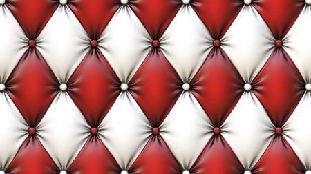 red leather texture: luxurious texture of leather upholstery. Stock Photo