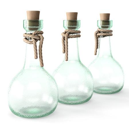 pocion: poci�n botella vac�a. aislado en el fondo blanco.