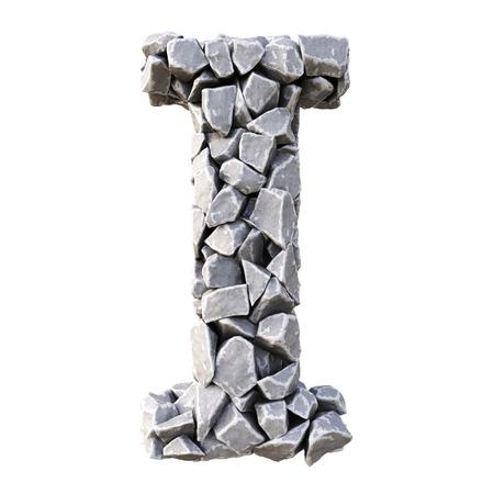 Aus den Steinen Alphabet. isoliert auf weißem Hintergrund. Standard-Bild - 45198096