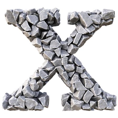 lettres alphabet: Alphabet des pierres. isolé sur fond blanc.