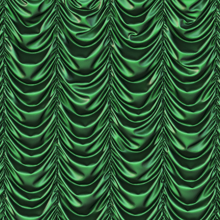 curtain: theater green curtains. presentation. Stock Photo