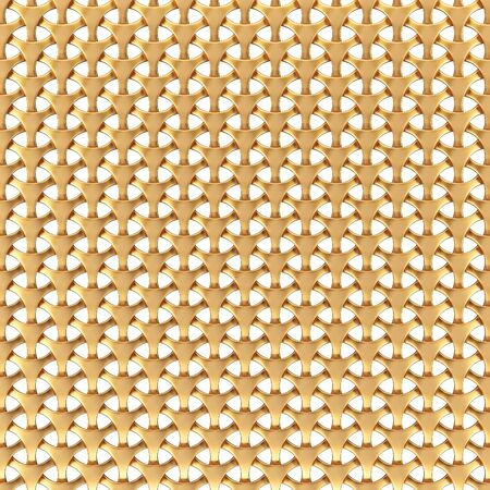 gilt: Abstract golden grid. Isolated on white background. Stock Photo