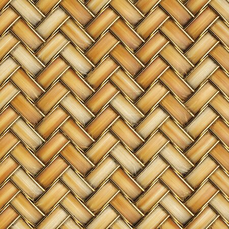 rattan: the bright wooden texture of rattan with natural patterns Stock Photo