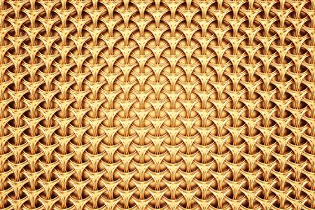 抽象的なゴールデン グリッドの背景