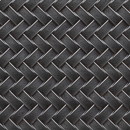 rattan: the dark leather texture of rattan with natural patterns Stock Photo