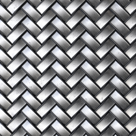 weave: the dark steel texture of rattan with natural patterns Stock Photo