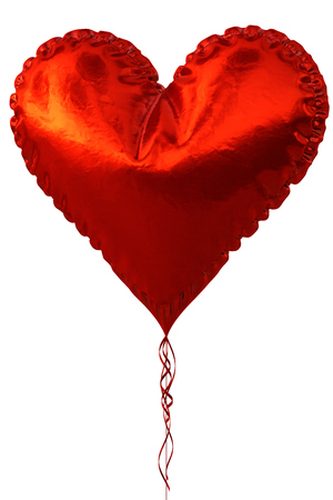 heart balloon: Red heart balloon isolated on white background