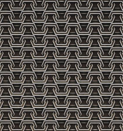 iron defense: Seamless chain armor background. 3D illustration.