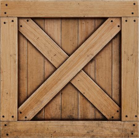 houten kist geïsoleerd op een witte achtergrond. 3D illustratie.