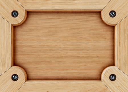 Oud houten raambord, menukaart. Geïsoleerd op wit. 3D-rendering.