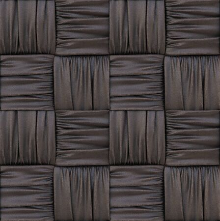the dark leather texture of rattan with natural patterns. 3d rendering. Stock Photo