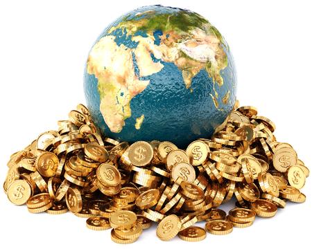 Global economy concept. 3D illustration. Stock Photo
