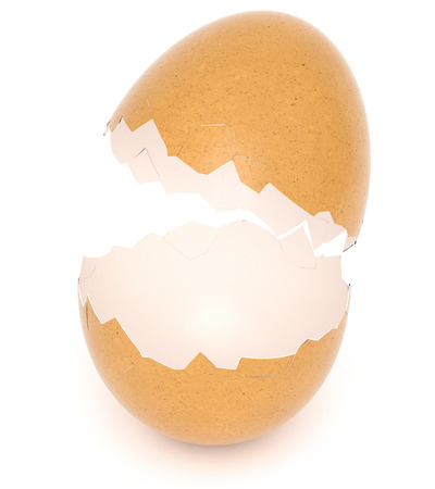 Broken Eggshell isolated on white background. 3d rendering. Standard-Bild - 120152839