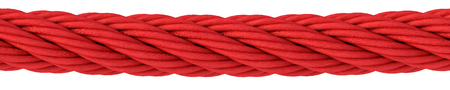 red rope on white background. 3d rendering. Stock Photo