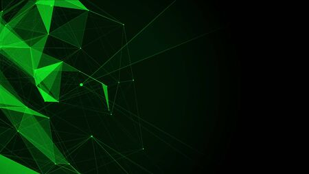 Green polygon background for presentation with space for text. abstract animation. 4k seamless loop computer generated