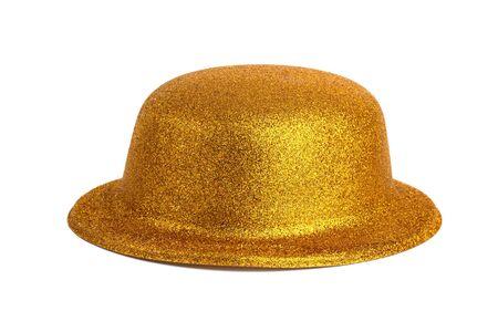 Yellow Magic shiny hat on a white background photo