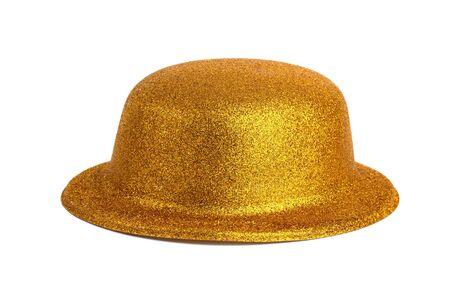 lordly: Yellow Magic shiny hat on a white background