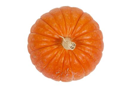 sulcus: Relief little pumpkin with a tail on a white background Stock Photo