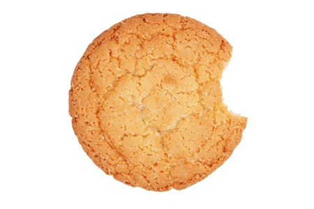 sulcus: Big round delicious biscuits on a white background Stock Photo