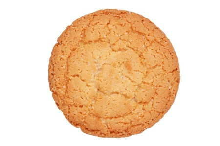 sulcus: Appetizing round ruddy biscuits on a white background Stock Photo