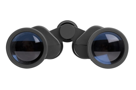 Binocular lenses with black on a white background