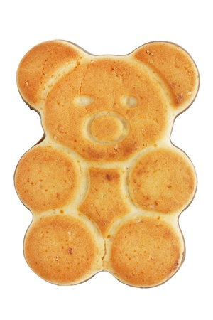 sulcus: Tasty cookies in the shape of a bear on a white background