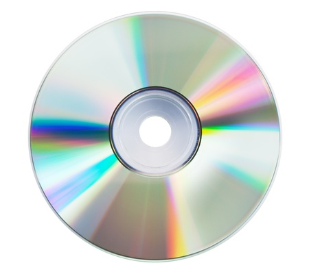 schittering: Lege cd schittering op de witte achtergrond Stockfoto