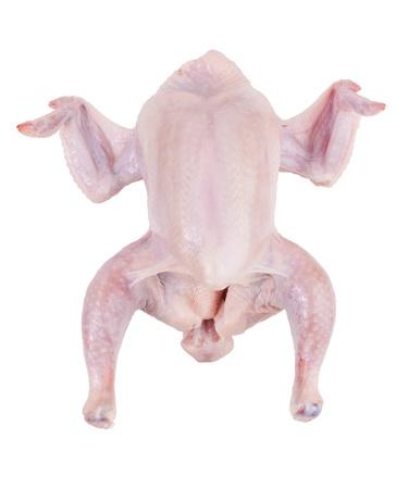 carcasse: Les ailes de poulet carcasse sur un fond blanc