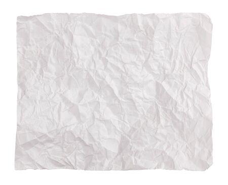 shrunken: Net crumpled piece of paper on a white background