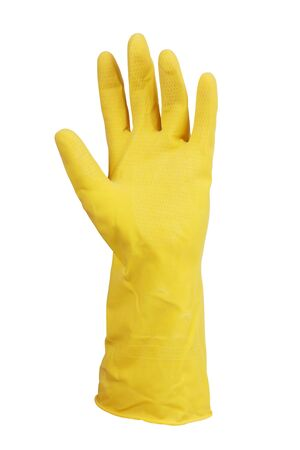handbreadth: Human hand in a glove on  white background