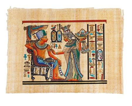 Modern Egyptian parchment copy on a white background Stock Photo - 13182197