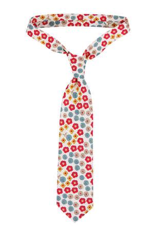 neckcloth: Motley man tie on a white background