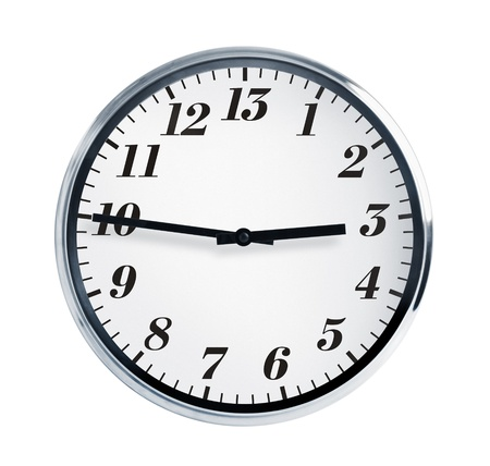baker's: Quarter to three on the wall clock