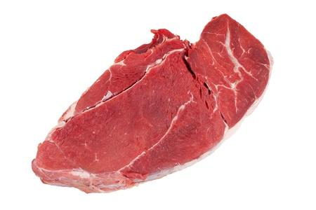 half stuff: Cut off a piece of fresh beef Stock Photo