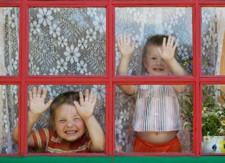 felicidade: Duas crian