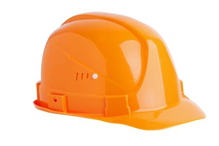 Protective plastic construction helmet on white background Stock Photo - 16556815