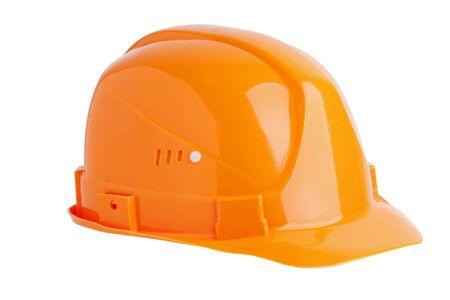 Protective plastic construction helmet on white background Stock Photo - 16556815
