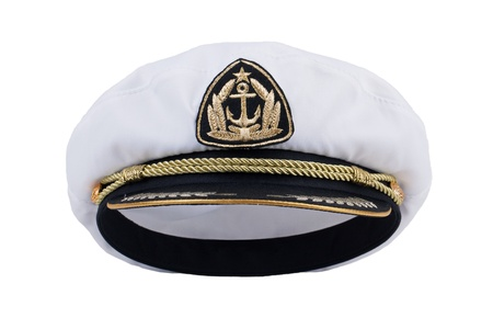 naval: Sea Captains cap on a white background