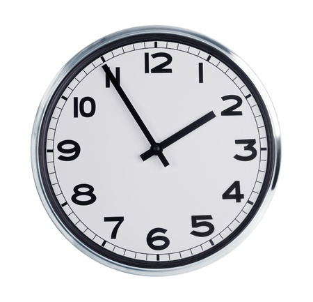 horologe: Wall clock shows the time - two hours of day