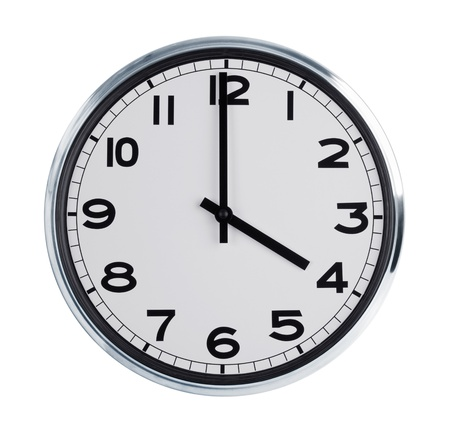 wall clock: Round wall clock is a quarter hour