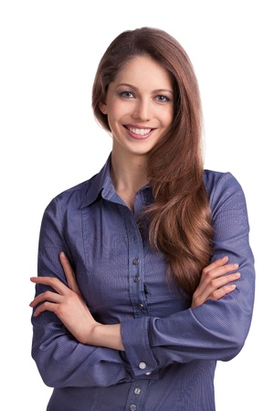 Beautiful stylish young woman with long hair Stock Photo - 17165686